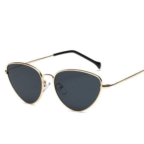 Reppit Sunglasses Gold/Black Retro Cat Eye