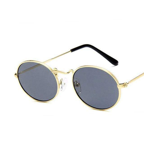 Reppit Sunglasses Gold/Grey Oval Classics