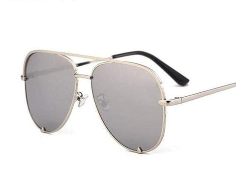 Reppit Sunglasses Silver Flat Top Aviators