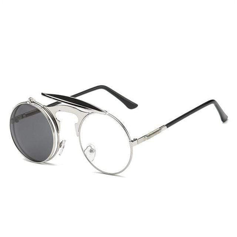 Reppit Sunglasses Silver/Gray Steam Flip Ups