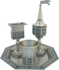 Pewter Octogonal Havdalah Set