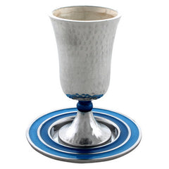 Hammered Aluminium Kiddush Cup