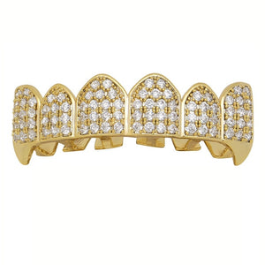Iced out Grillz Custom Simulated Diamond