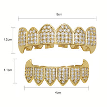 Load image into Gallery viewer, Iced out Grillz Custom Simulated Diamond