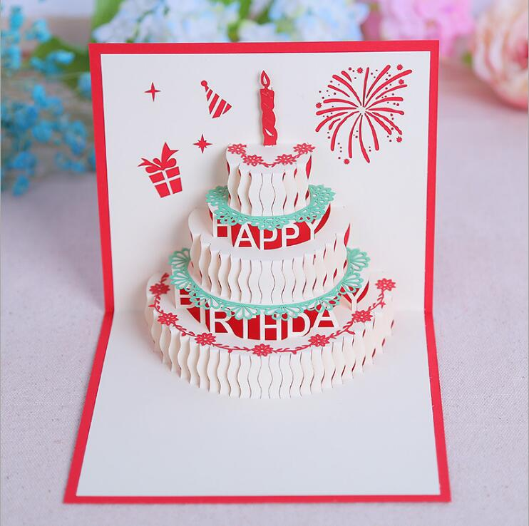 Happy Birthday 3D Cake Pop Up Card