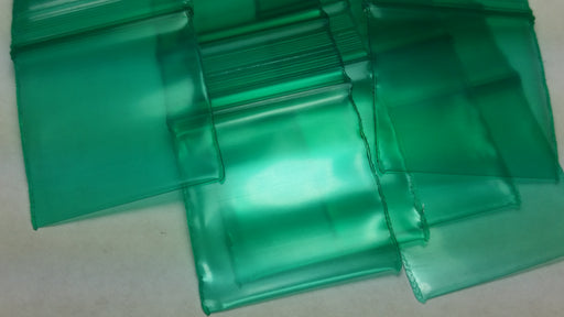 "125125-S Original Mini Ziplock 2.5mil Plastic Bags 1.25"" x 1.25"" Reclosable Baggies (Green) - The Baggie Store"