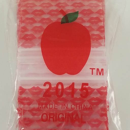 "2015 Original Mini Ziplock 2.5mil Plastic Bags 2"" x 1"" Reclosable Baggies (Lips) - The Baggie Store"