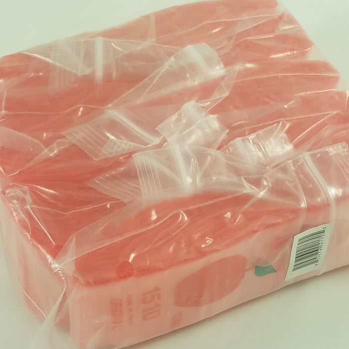 "1510 Original Mini Ziplock 2.5mil Plastic Bags 1.5"" x 1"" Reclosable Baggies (Red) - The Baggie Store"