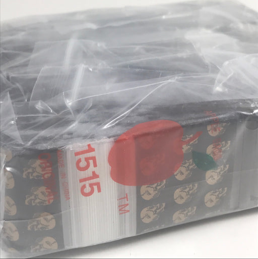 "1515 Original Mini Ziplock 2.5mil Plastic Bags 1.5"" x 1"" Reclosable Baggies (Gold Skull) - The Baggie Store"