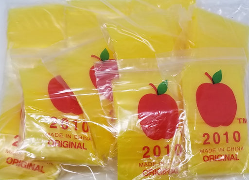 "2010 Original Mini Ziplock 2.5mil Plastic Bags 2"" x 1"" Reclosable Baggies (Yellow) - The Baggie Store"