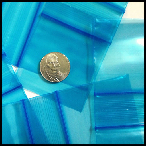 "2020 Original Mini Ziplock 2.5mil Plastic Bags 2"" x 2"" Reclosable Baggies (Blue) - The Baggie Store"