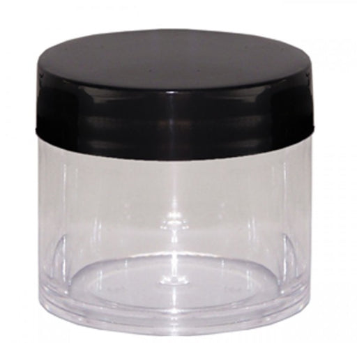 Head Stash Jar-30ML Polystyrene Containers – Black Lid - The Baggie Store