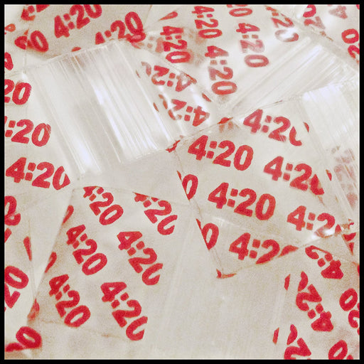 "5858 Original Mini Ziplock 2.5mil Plastic Bags 5/8"" x 5/8"" Reclosable Baggies (Four Twenty 4:20) - The Baggie Store"