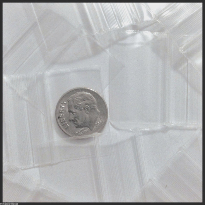 "12534 Original Mini Ziplock 2.5mil Plastic Bags 1.25"" x 3/4"" Reclosable Baggies (Clear) - The Baggie Store"