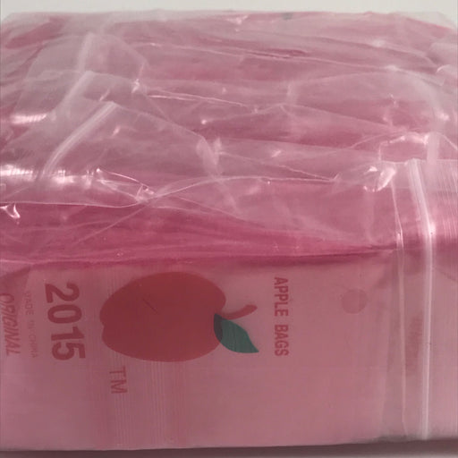 "2015 Original Mini Ziplock 2.5mil Plastic Bags 2"" x 1"" Reclosable Baggies (Pink) - The Baggie Store"