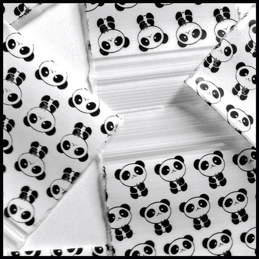 "1515 Original Mini Ziplock 2.5mil Plastic Bags 1.5"" x 1"" Reclosable Baggies (Panda) - The Baggie Store"