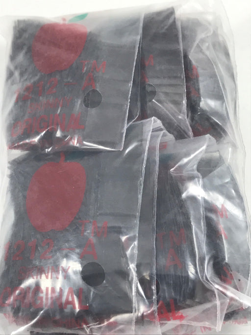 "1212-A Original Mini Ziplock 2.5mil Plastic Bags 1/2"" x 1/2"" Reclosable Baggies (Black) - The Baggie Store"