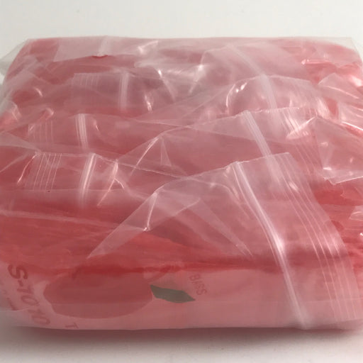 "1010-S Original Mini Ziplock 2.5mil Plastic Bags 1"" x 1"" Reclosable Baggies (Red) - The Baggie Store"