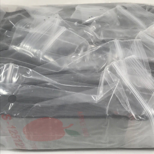 "125125-S Original Mini Ziplock 2.5mil Plastic Bags 1.25"" x 1.25"" Reclosable Baggies (Black) - The Baggie Store"