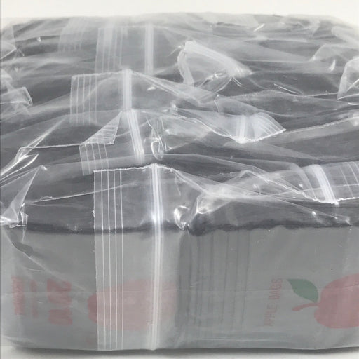 "2010 Original Mini Ziplock 2.5mil Plastic Bags 2"" x 1"" Reclosable Baggies (Black) - The Baggie Store"