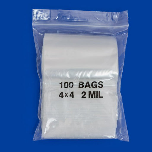 "4040 Original Mini Ziplock 2mil Plastic Bags 4"" x 4"" Reclosable Baggies (Clear) - The Baggie Store"