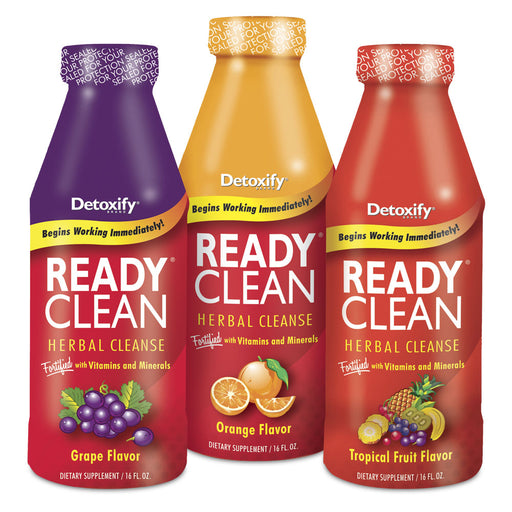 Detoxify Ready Clean, 16oz, (Grape, Tropical, Orange) - The Baggie Store