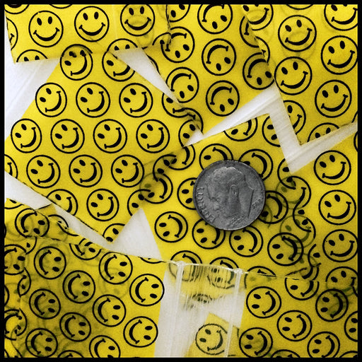 "1515 Original Mini Ziplock 2.5mil Plastic Bags 1.5"" x 1"" Reclosable Baggies (Happy Face) - The Baggie Store"