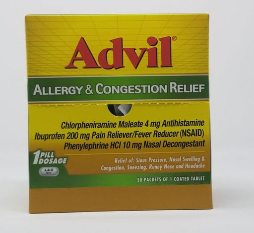 DSP* ADVIL ALLERGY CON RLF 50'S TAB (BX) - The Baggie Store