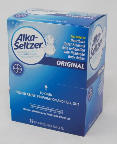 DSP* ALKA SELTZER 72'S ORG *** (BX) - The Baggie Store