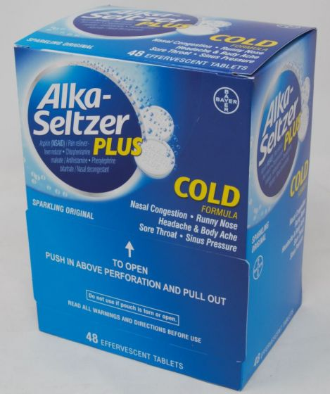 DSP* ALKA SELTZER PLUS 48'S *** (BX) - The Baggie Store