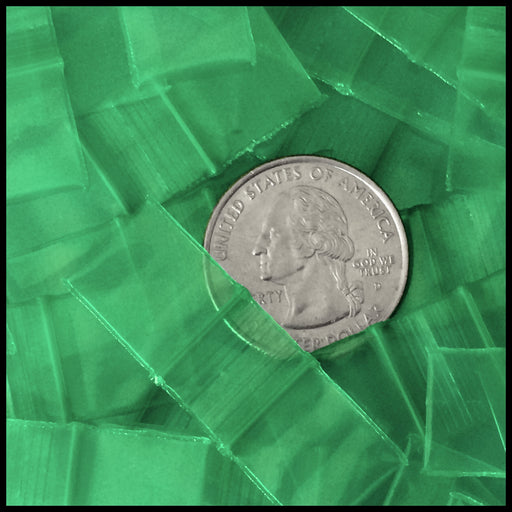 "5858-S Original Mini Ziplock 2.5mil Plastic Bags 5/8"" x 5/8"" Reclosable Baggies (Green) - The Baggie Store"