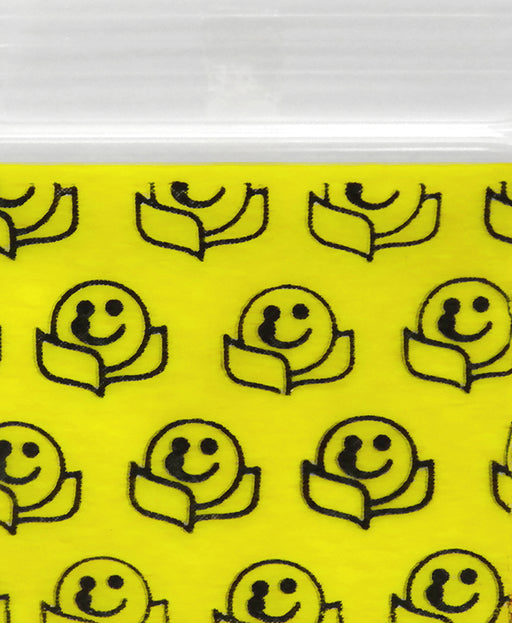 "12534 Original Mini Ziplock 2.5mil Plastic Bags 1.25"" x 3/4"" Reclosable Baggies (Happy Face) - The Baggie Store"
