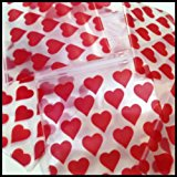 "1515 Original Mini Ziplock 2.5mil Plastic Bags 1.5"" x 1"" Reclosable Baggies (Hearts) - The Baggie Store"