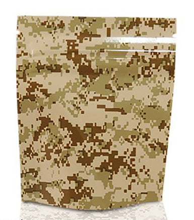 Mylar Stealth Bag, Tan Camo - The Baggie Store