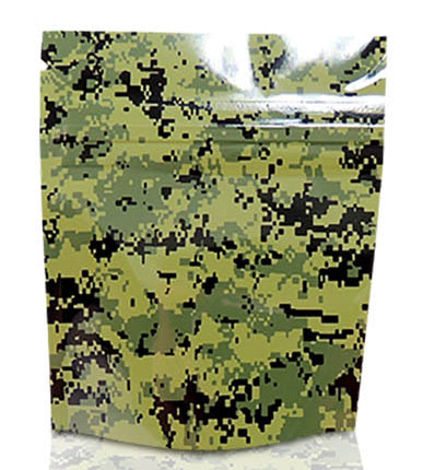 Mylar Stealth Bag, Green Camo - The Baggie Store