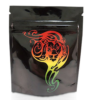 Mylar Stealth Bag, Rasta Lion - The Baggie Store