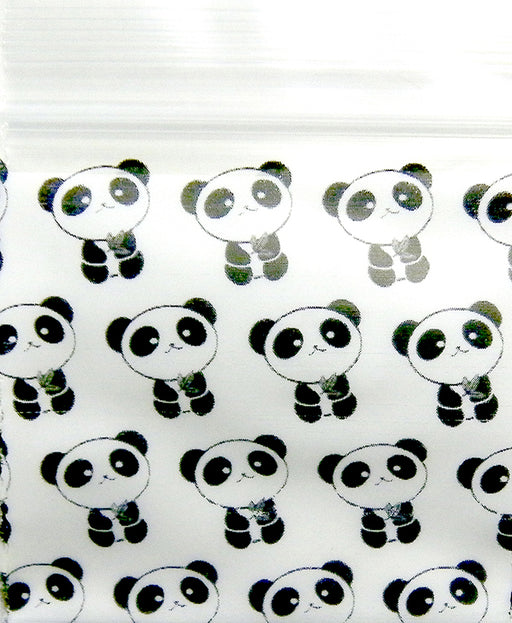 "1010 Original Mini Ziplock 2.5mil Plastic Bags 1"" x 1"" Reclosable Baggies (Panda) - The Baggie Store"