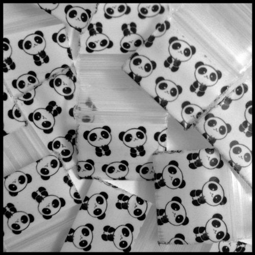 "5858 Original Mini Ziplock 2.5mil Plastic Bags 5/8"" x 5/8"" Reclosable Baggies (Panda) - The Baggie Store"