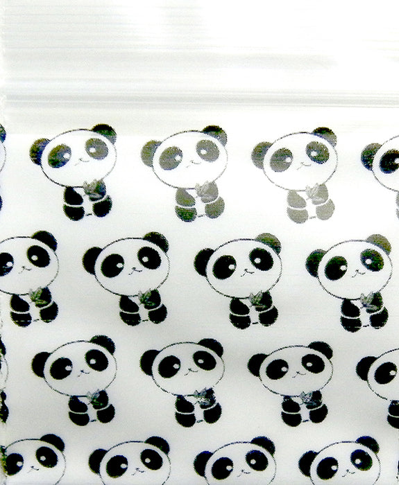 "12510 Original Mini Ziplock 2.5mil Plastic Bags 1.25"" x 1"" Reclosable Baggies (Panda) - The Baggie Store"