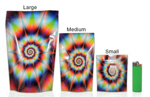 Mylar Stealth Bag, Tie-Dye - The Baggie Store