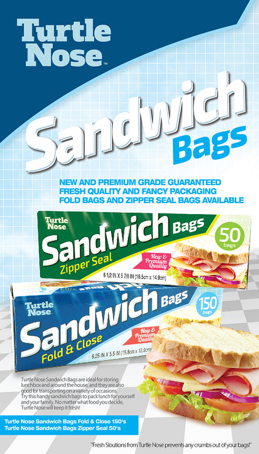 Sandwich Bags by Turtle Nose - The Baggie Store