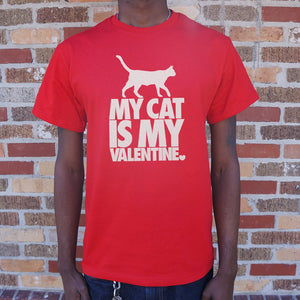 My Cat Is My Valentine T-Shirt (Mens)