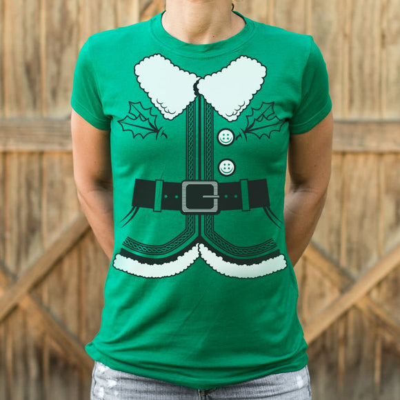 Santa's Elf Costume T-Shirt (Ladies)