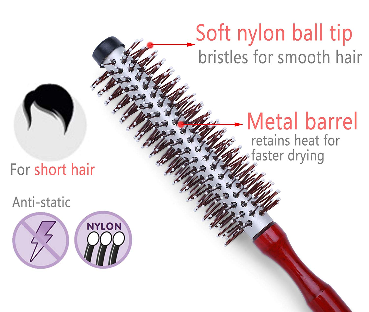 Small Round Brush for Blow Drying Short Hair