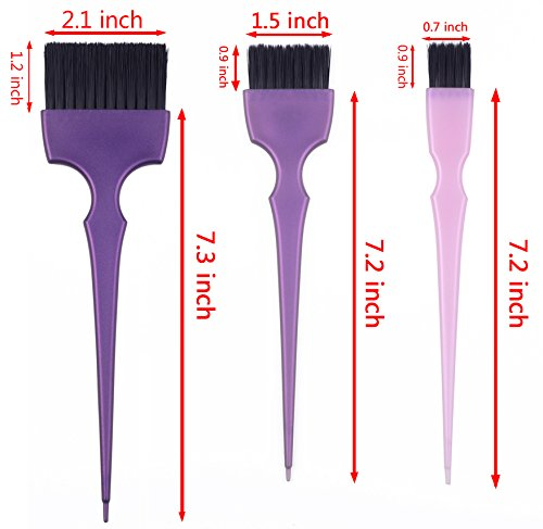 Hair Dye Coloring Brushes Kit Color Applicator Tint Brush-6 Pieces