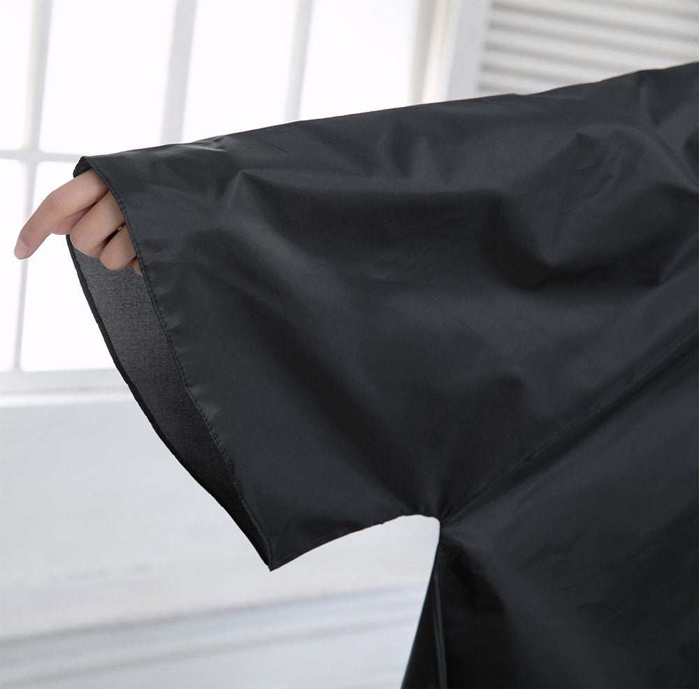 Salon Hair Cutting Cape with sleeves - Black.