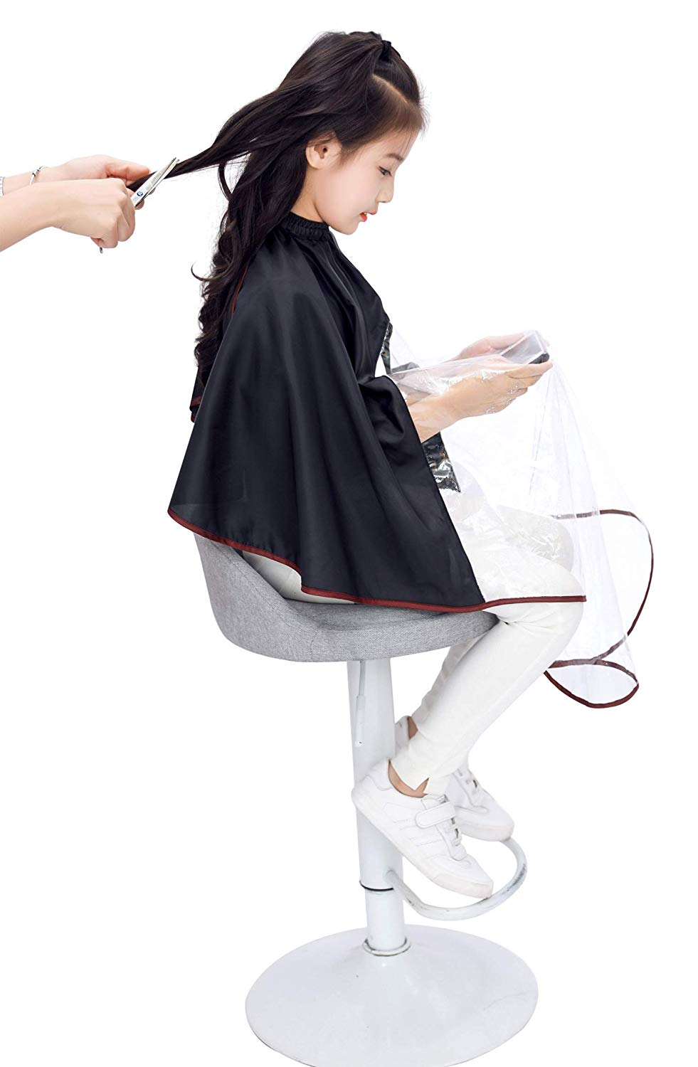 Kids Haircut Cape with Viewing Window