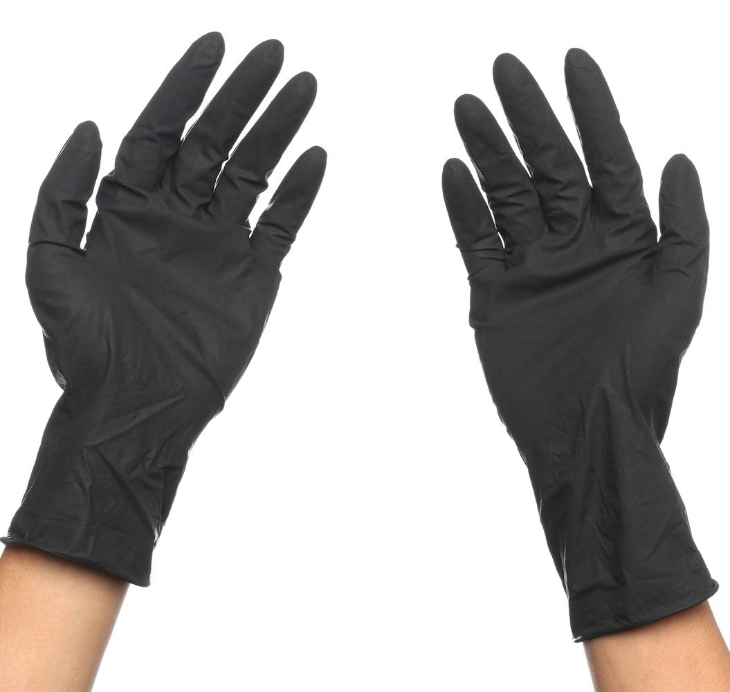 Black Reusable Latex Hair Dye Gloves (Pack of 10)
