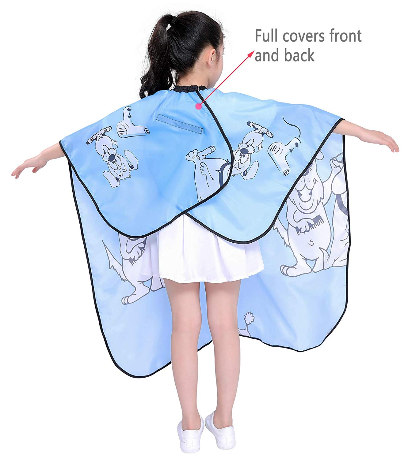 Kids Haircut Salon Cape, Hair Cutting Cape for Kid cloth