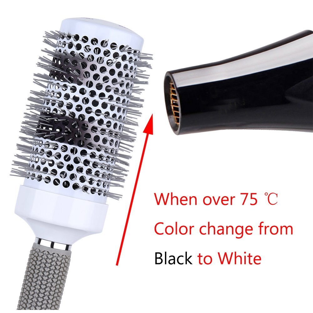 Round Thermal Ceramic Brush Set for Blow Drying Curling